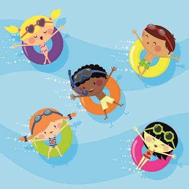Kinder-Geburtstags-Pool-Party im Ishara